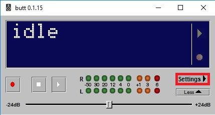 Como transmitir a rádio online com o BUTT