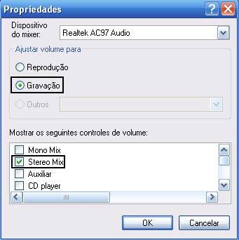 Como habilitar o Mixagem Stereo ou Stereo Mix