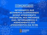 Legislativo suspende atendimento presencial por 3 dias