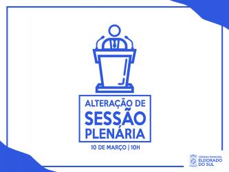 Alteração de horário Sessão Plenária