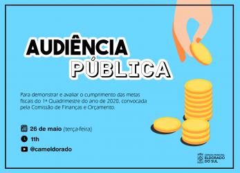 Comissão de Finanças e Orçamento da Câmara Municipal convida para a apresentação do Relatório de Metas Fiscais por videoconferência