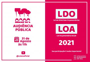 Audiência Pública para a apresentação da LDO e LOA 2021
