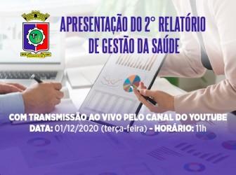 Câmara convida para acompanhar a Audiência Pública de Apresentação do Relatório de Gestão da Saúde nesta Terça-feira 1º de Dez, pelo seu Canal do YouTube