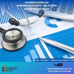Audiência Pública de Apresentação do Relatório de Gestão da Saúde