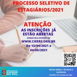 PROCESSO SELETIVO DE ESTÁGIÁRIOS/2021