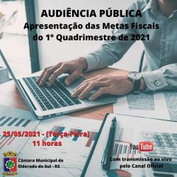 Audiência Pública Metas Fiscais do 1ºQ 2021