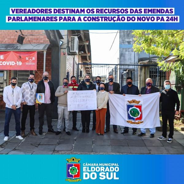 VEREADORES DESTINAM OS RECURSOS DAS EMENDAS PARLAMENTARES A CONSTRUÇÃO DO NOVO PA 24 HORAS