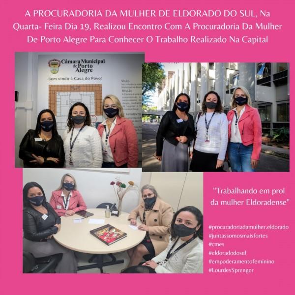 A Procuradoria da Mulher de Eldorado do Sul realiza encontro com a Procuradoria da Mulher da Capital