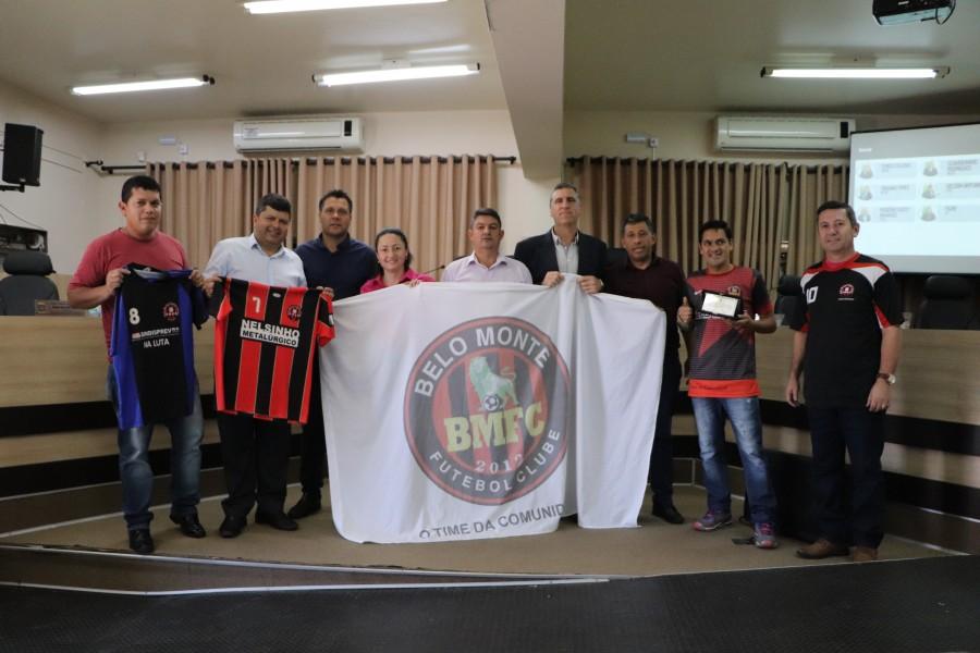 Legislativo entrega Moção Honrosa ao Belo Monte Futebol Clube