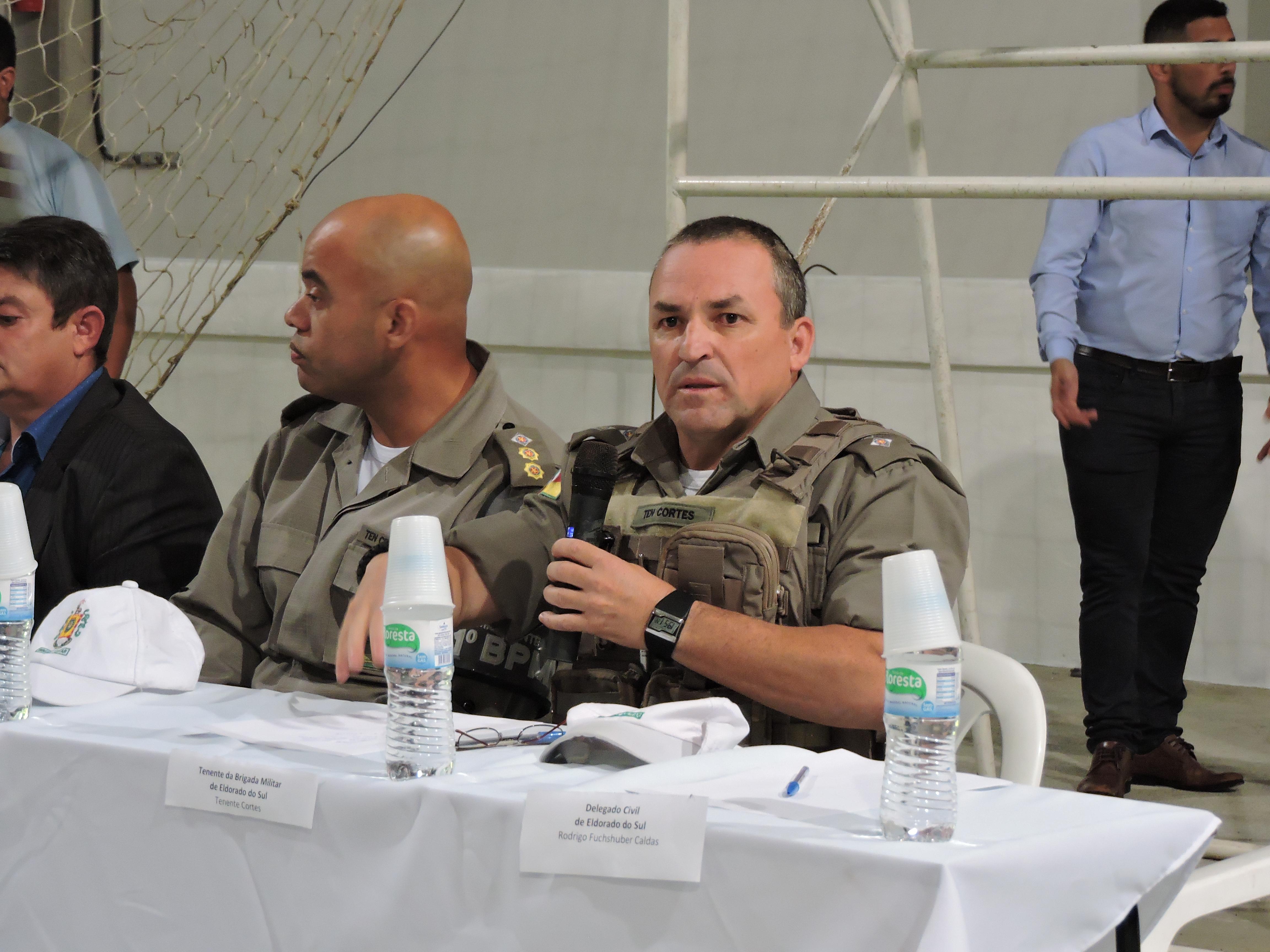 Tenente Cortes da Brigada Militar de Eldorado do Sul