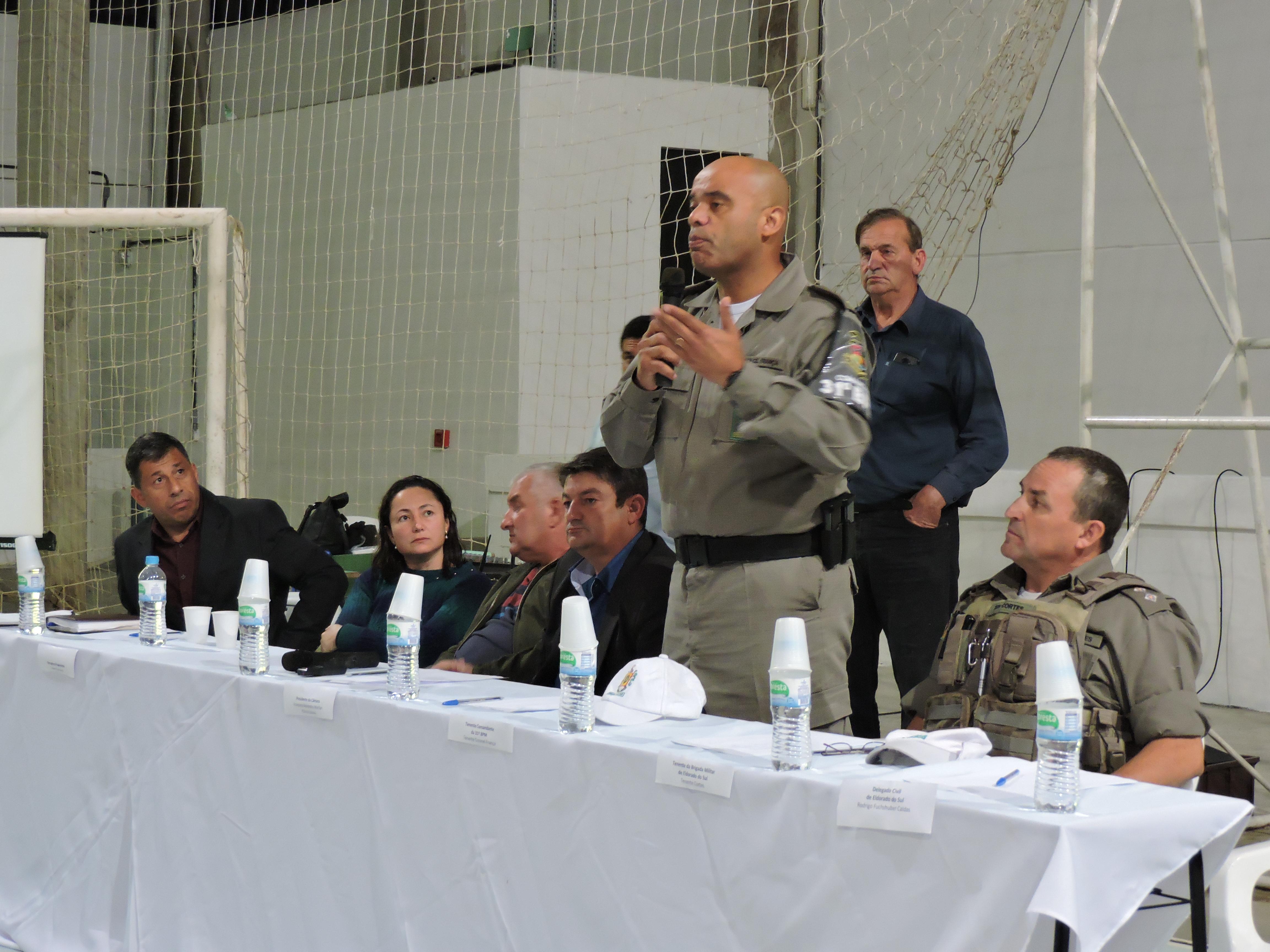 Tenente Coronel França, Tenente Comandante da 31º BPM, esteve representando o Secretário de Segurança do estado