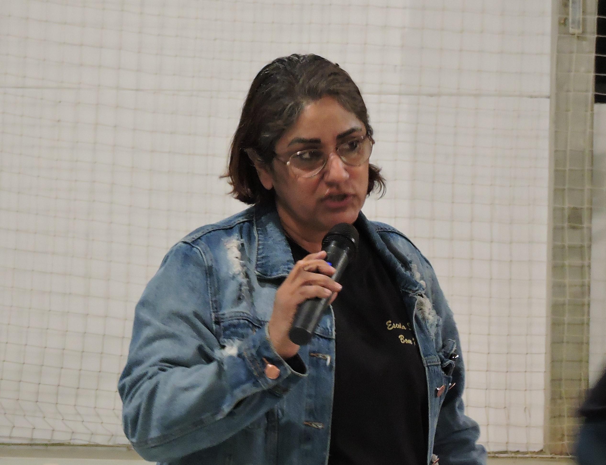 Cláudia, diretora da Escola Sergipe e moradora do Bom Retiro