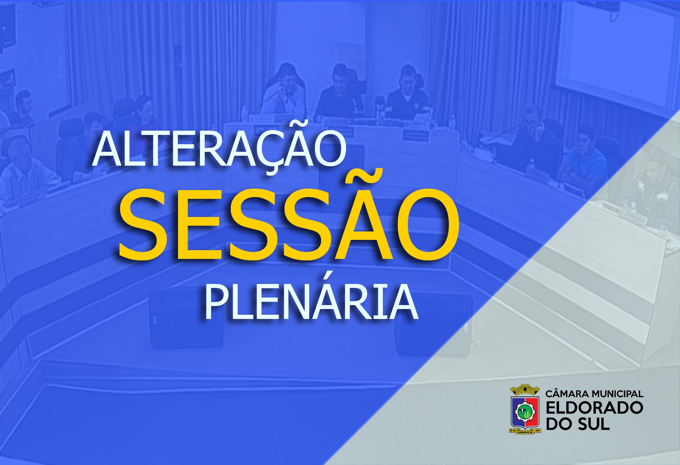 Alteração de horário da Sessão Plenária de 13 de agosto de 2019