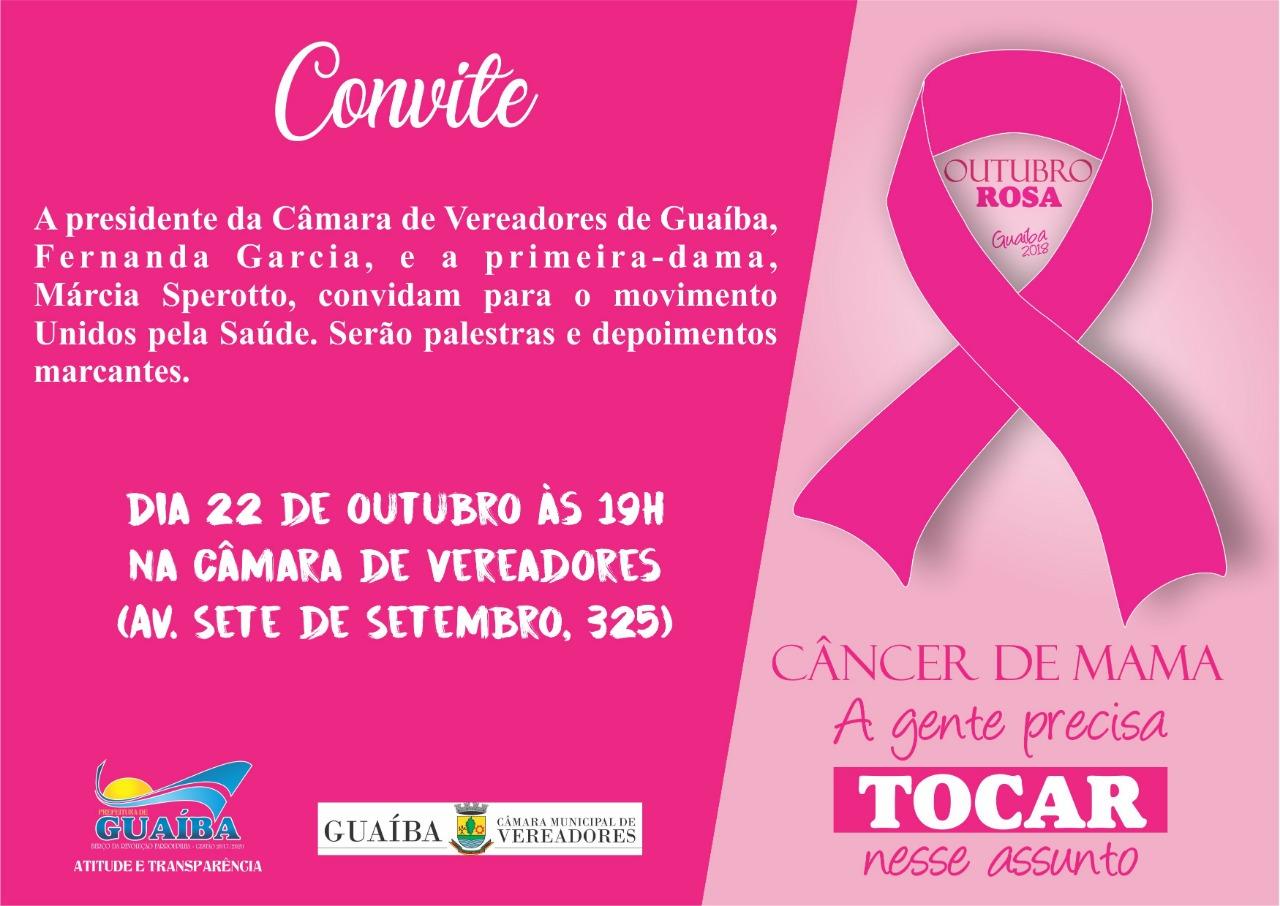 Outubro Rosa será tema de evento na Câmara Municipal