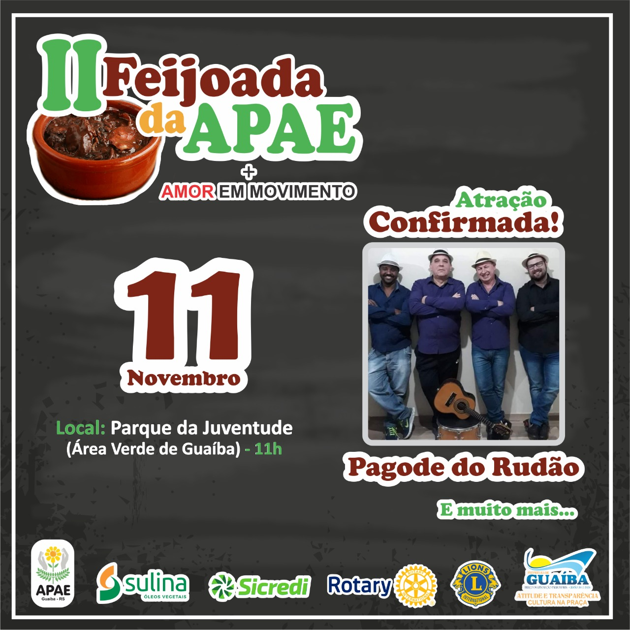 APAE promove II Feijoada + Amor em Movimento