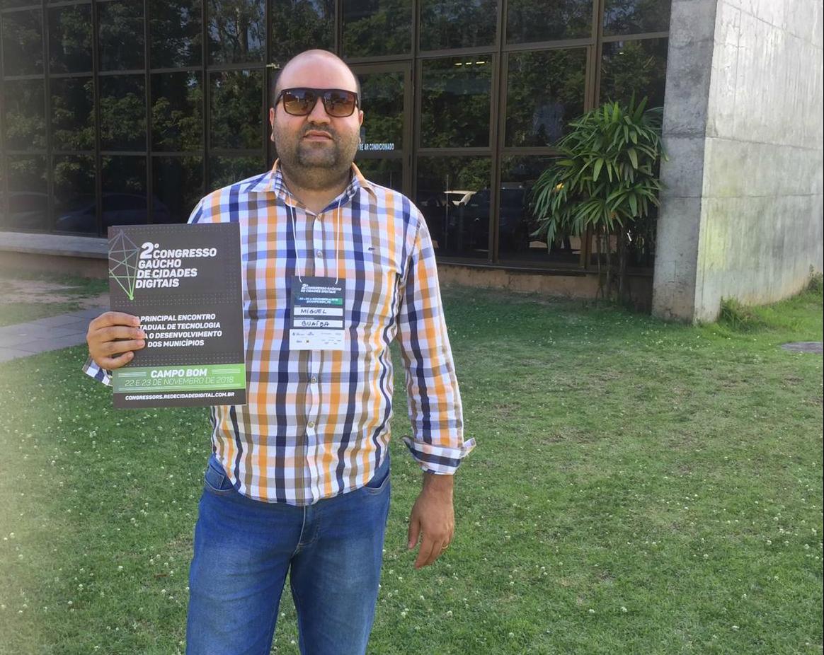 Vereador Miguel Crizel participa de congresso sobre tecnologias para administração pública de municípios