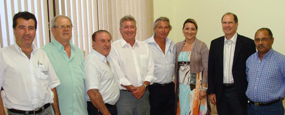 Presidente Luis Vargas recebe visita do Dep. Sperotto e Organizadores da Expofeira e Festa Campeira