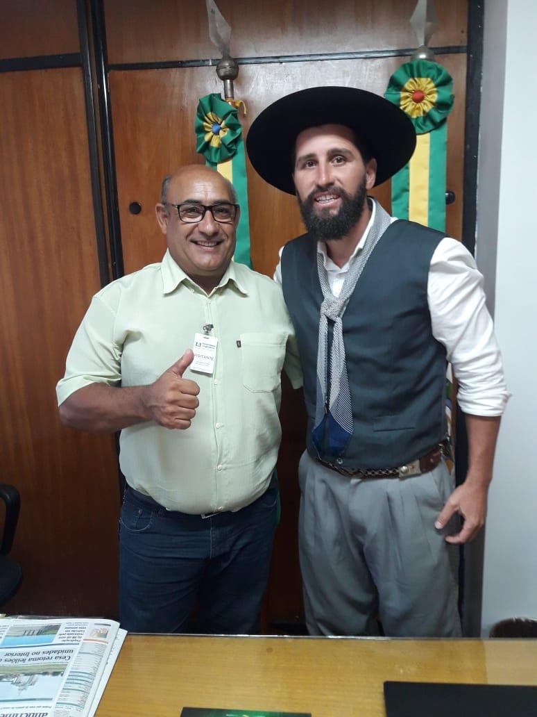 Vereador Florindo Motorista (PSD) visita Deputado Estadual Gaúcho da Geral (PSD)