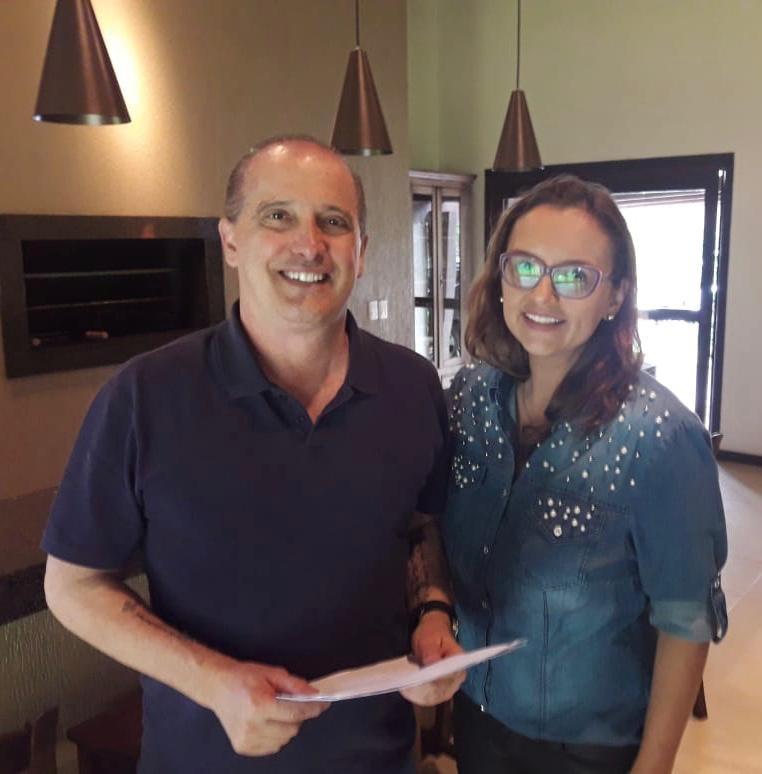 Claudinha se Reúne com o Ministro, Chefe da Casa Civil, Onyx Lorenzoni