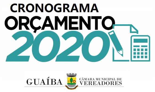 CRONOGRAMA PLOA 2020