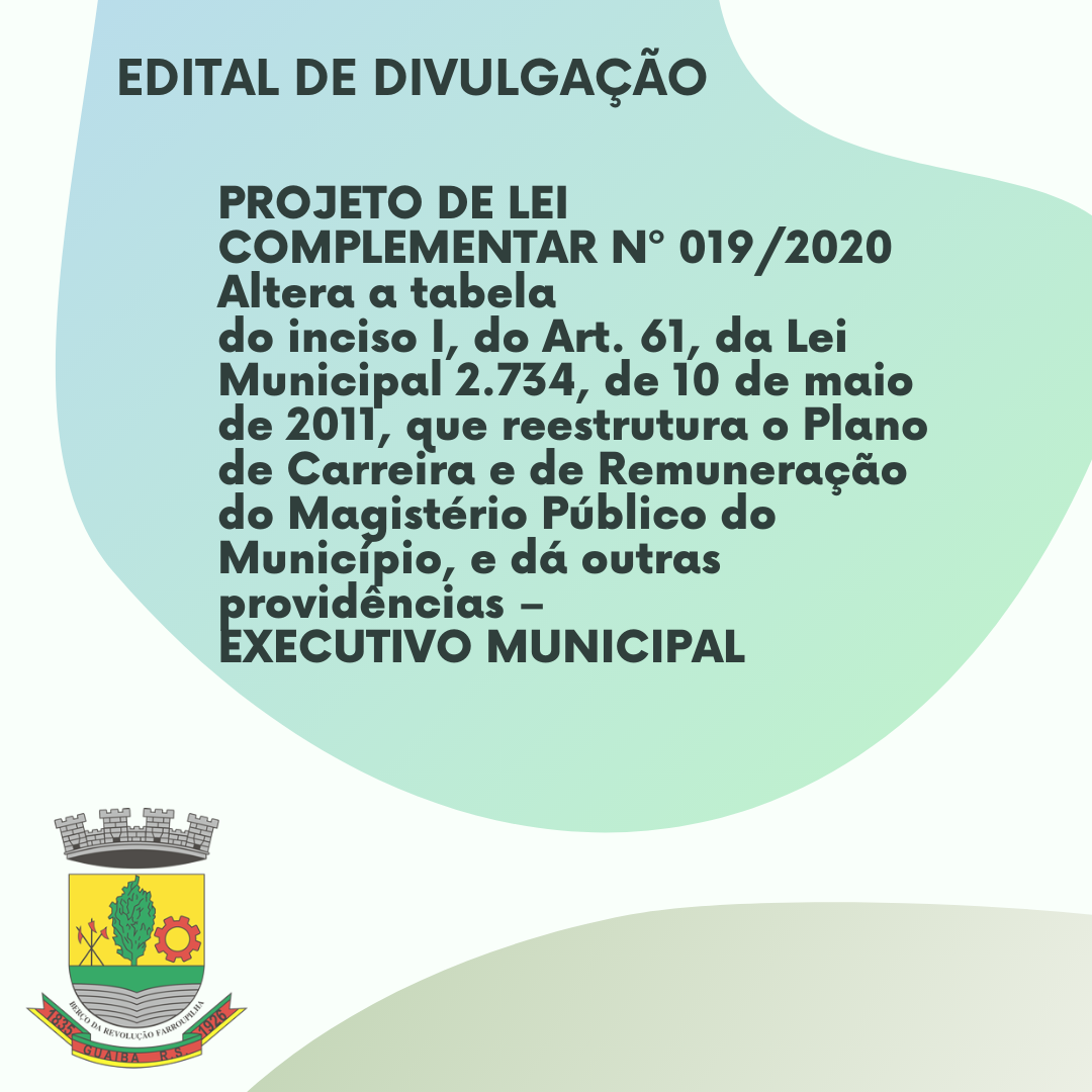 EDITAL DE DIVULGAÇÃO