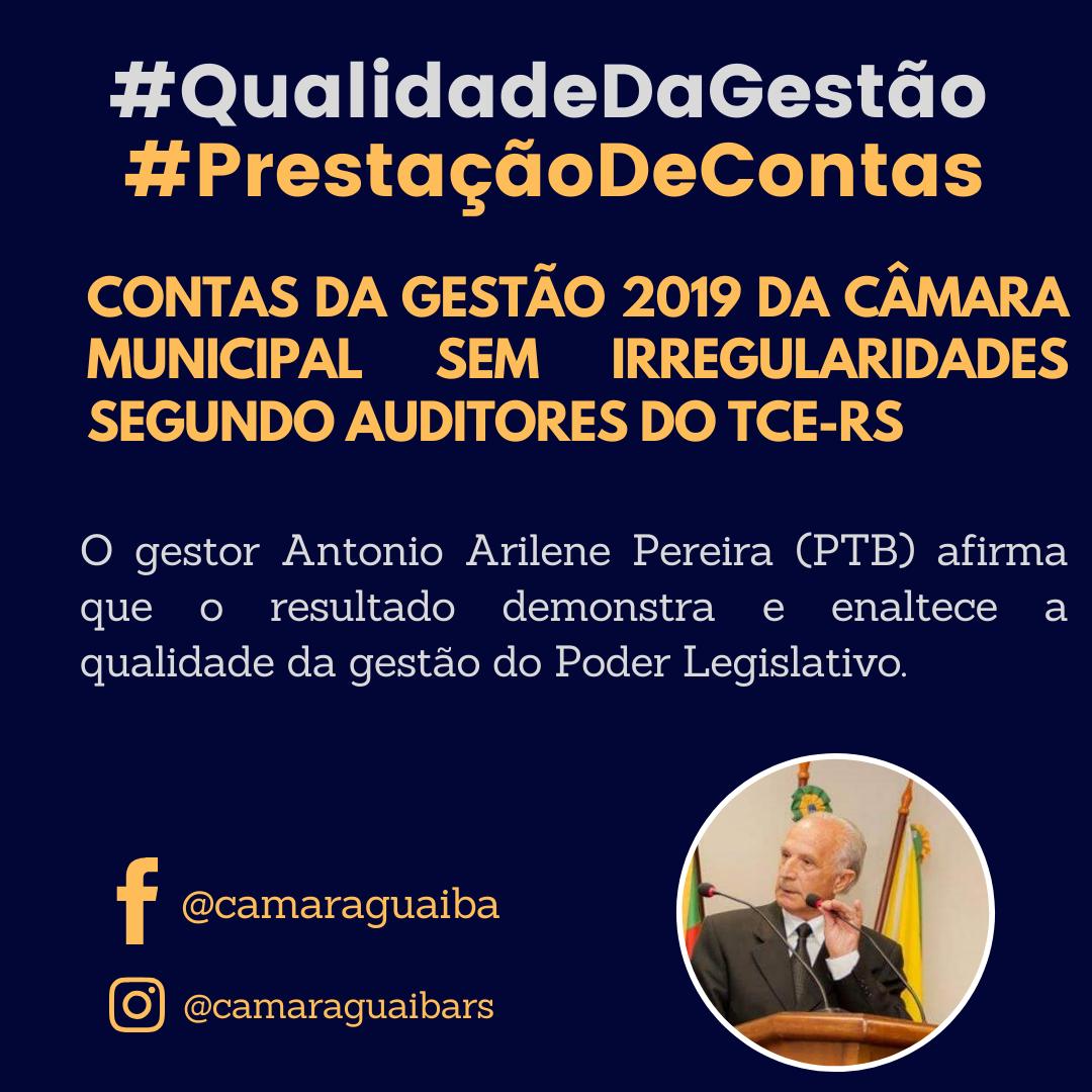 PRESTAÇÃO DE CONTAS - CONTAS DA GESTÃO 2019