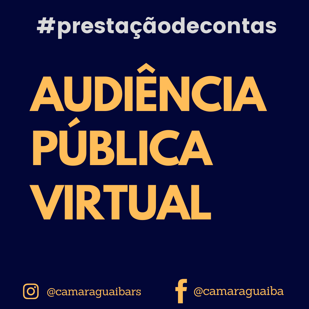 Audiência Pública Virtual