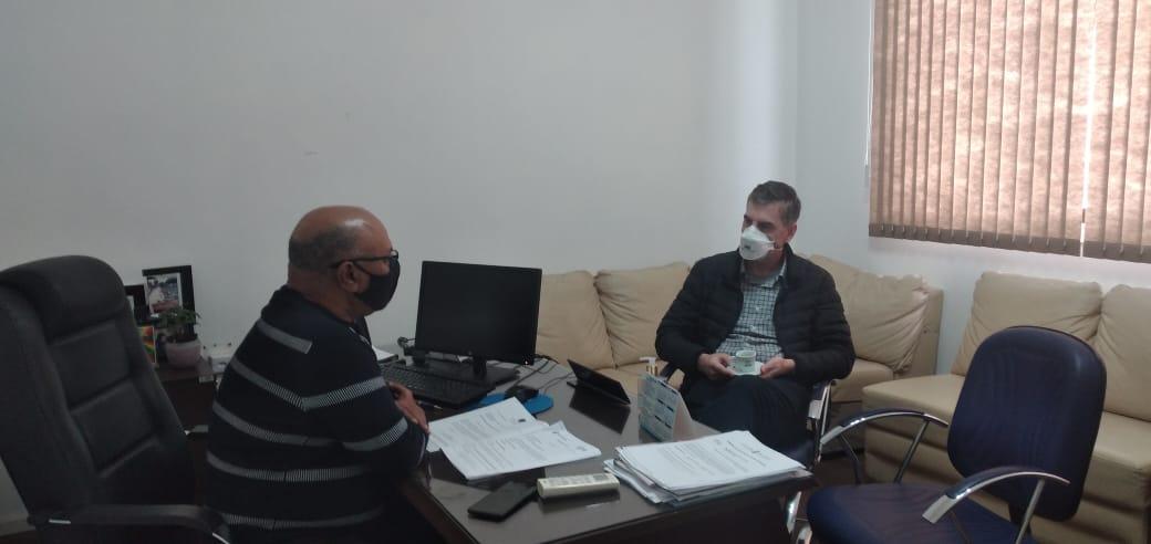 Presidente João Collares recebe deputado Loureiro