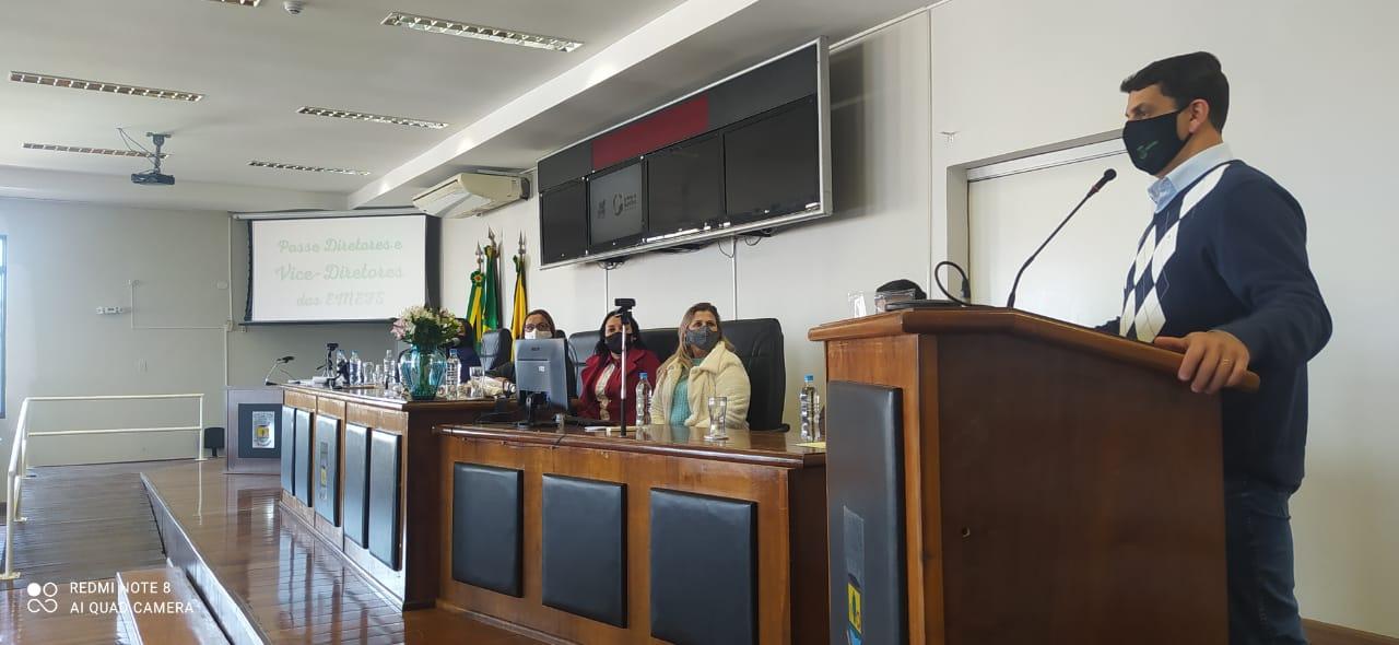 Diretoras das Escolas Municipais - Cerimônia de posse ocorreu no Plenário Vereador Jonas Xavier