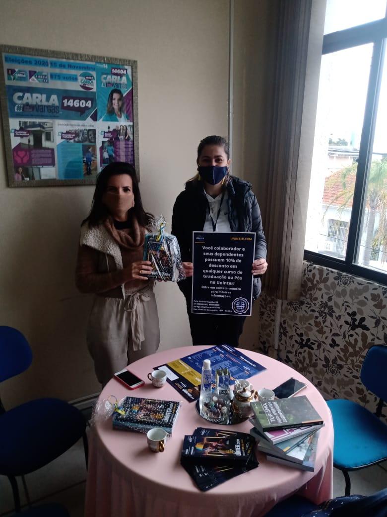 Vereadora Carla Vargas intermedia Parceria da Uninter com a Câmara de Guaíba