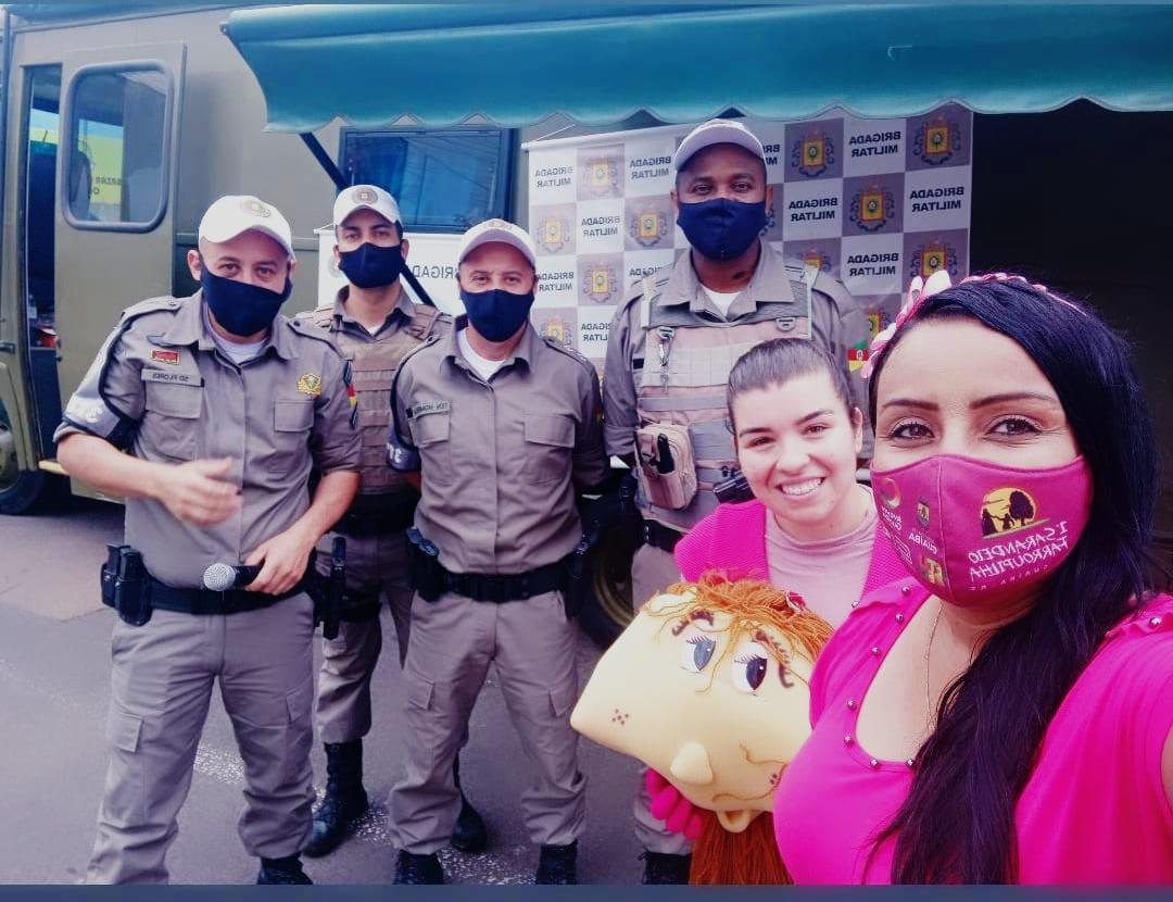 Vereadora Letícia Maidana participa de Drive Solidário