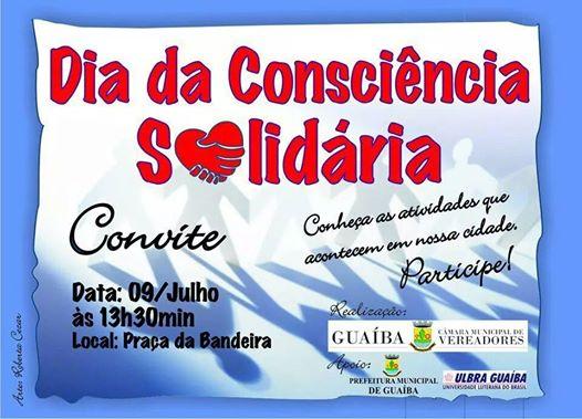 Dia da Consciência Solidária nesta quarta (09)