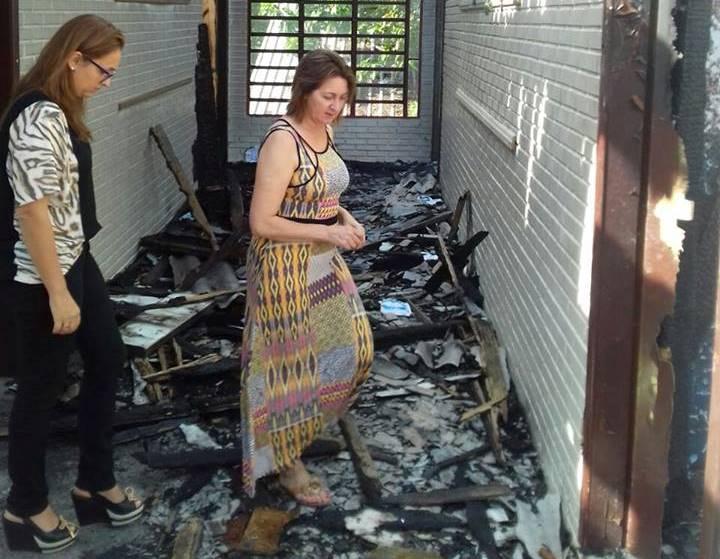 Professora Claudinha Jardim visita Escola Nossa Senhora do Livramento