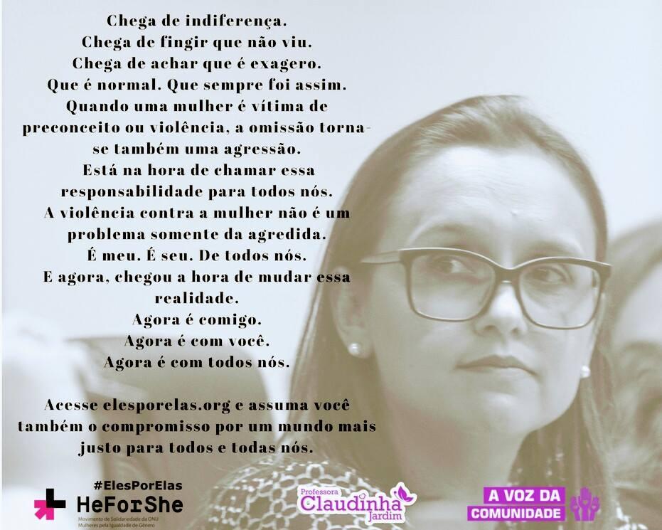 Vereadora Profª Claudinha Jardim participa do lançamento do Comitê Impulsionador, na Assembleia Legislativa