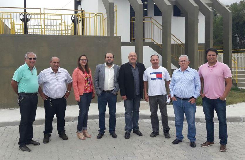 Vereadores visitam a EBE da Corsan