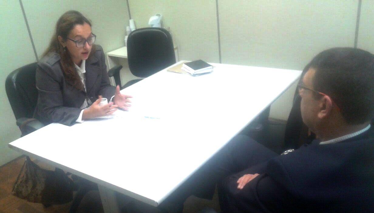 Professora Claudinha Jardim tem reunião na Secretaria Estadual de Segurança Pública
