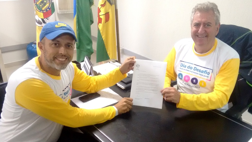 Vereador Everton da Academia reúne-se com o Prefeito Sperotto para tratar sobre projeto na Vila Iolanda