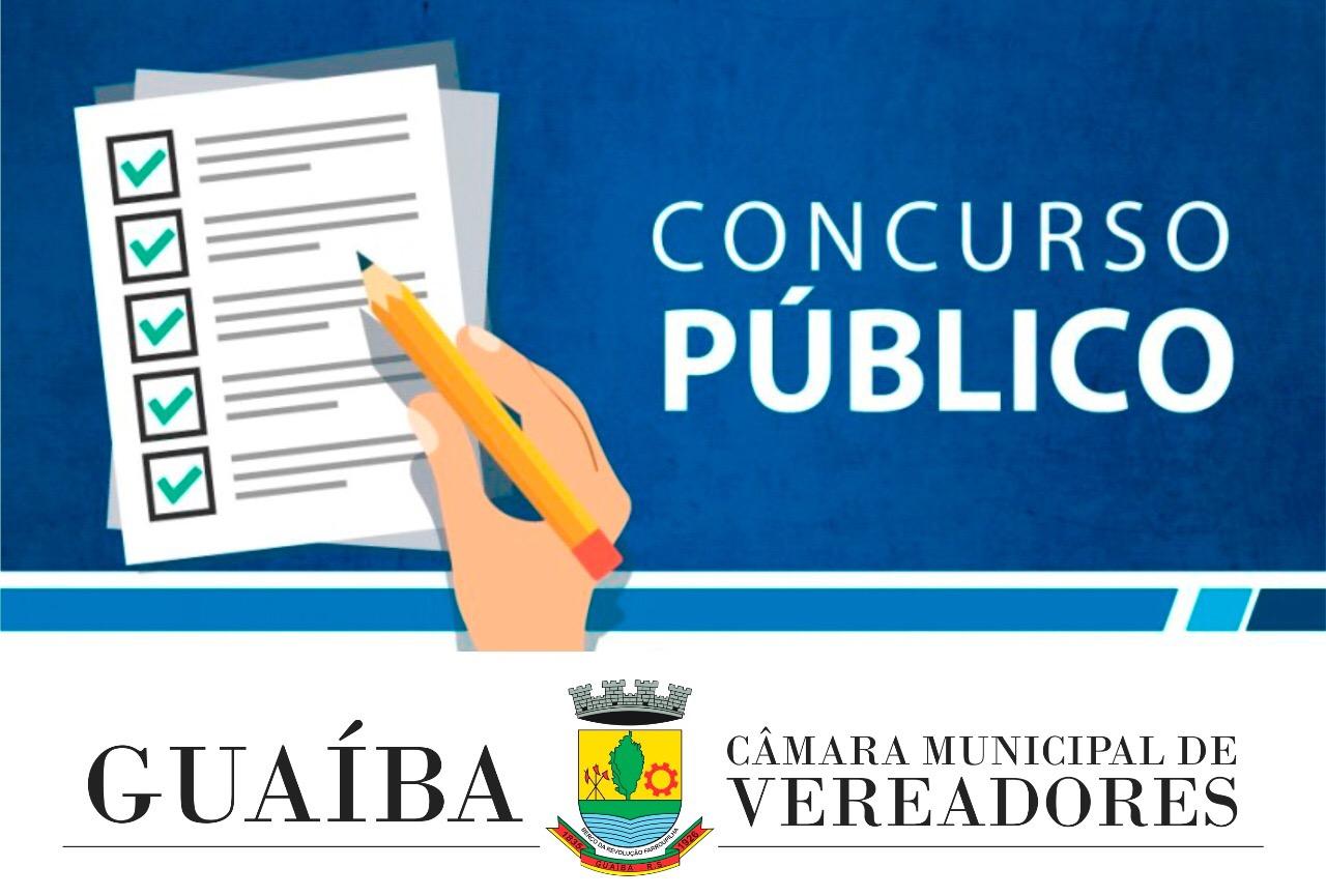 Câmara de Vereadores de Guaíba divulga o edital de abertura do Concurso Público