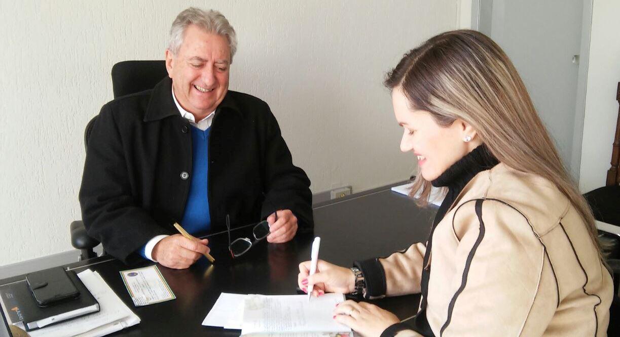Vereadora Fernanda Garcia e Prefeito Sperotto tratam sobre demandas de Guaíba