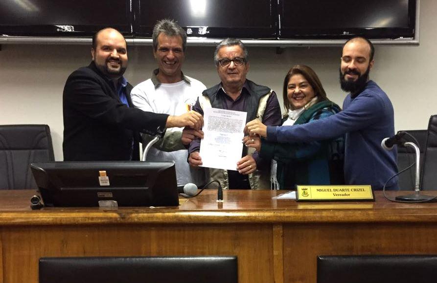 Entrega oficial da Carta do Sindicato dos Vigilantes de Guaíba e Região