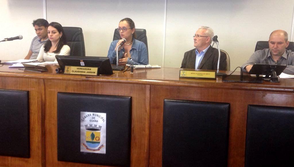 Claudinha Jardim preside audiência pública da Saúde