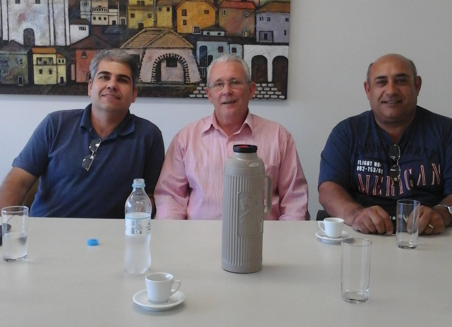 Vereadores Bento e Florindo se reúnem com o gerente operacional da empresa Expresso Rio Guaíba