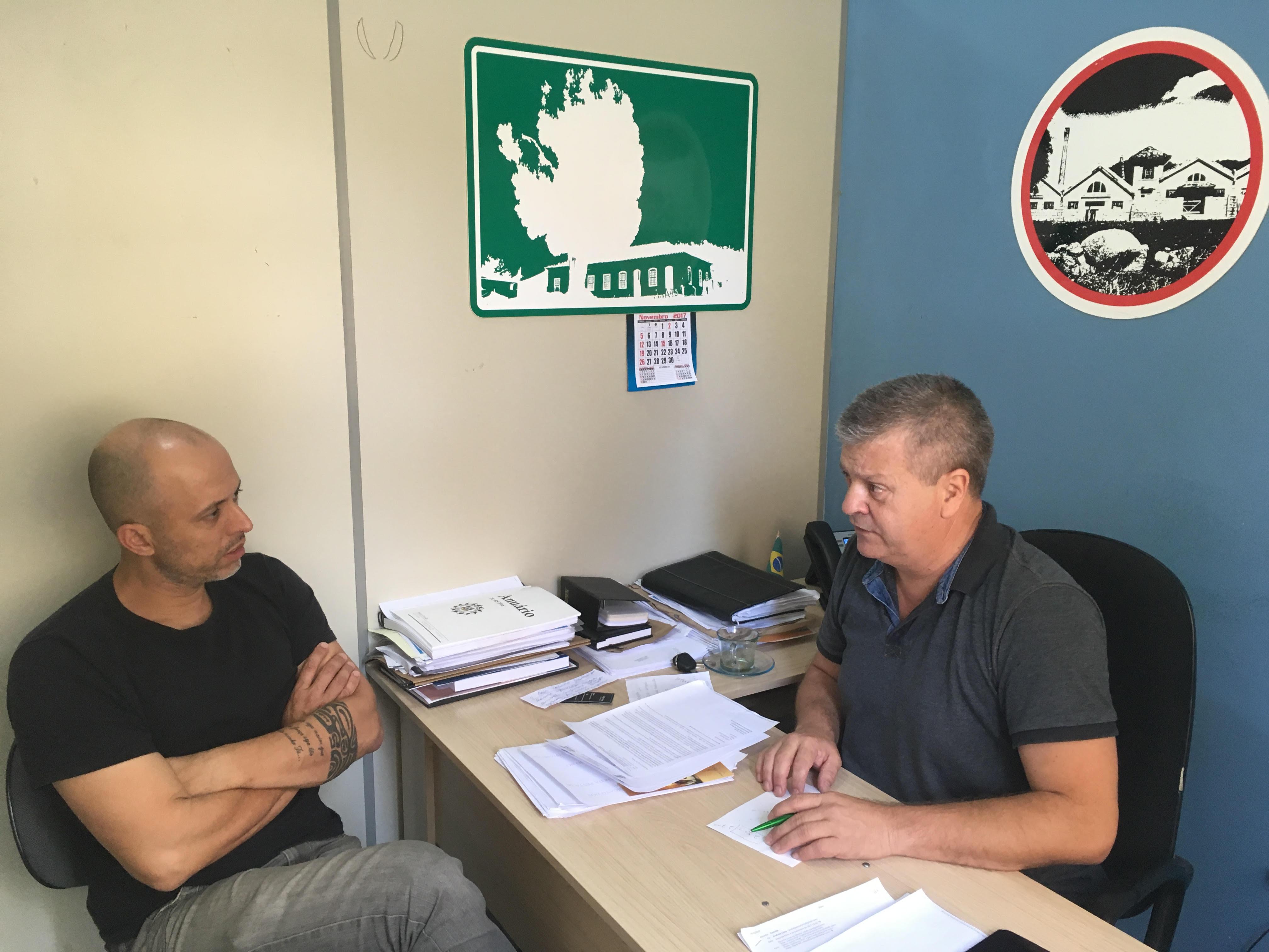 Vereador Everton da Academia se reúne com Secretário Leonardo Gardel