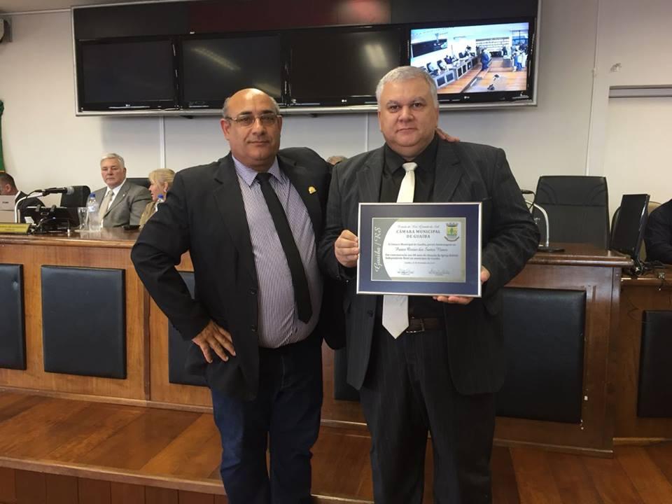 Vereador Florindo Motorista participa de homenagem a Igreja Batista Independente Betel