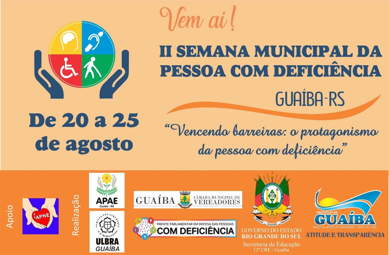 II Semana Municipal da Pessoa com Deficiência