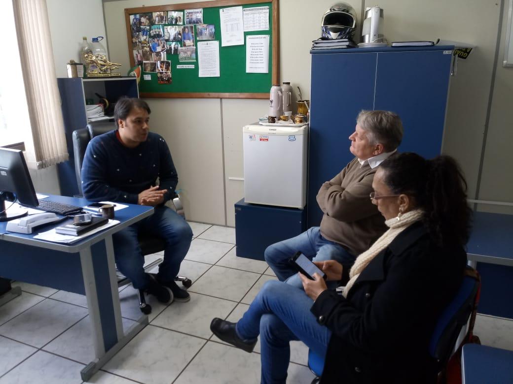 Vereador Juliano Ferreira reúne-se com presidente da Federação dos Trabalhadores em Saúde do RS