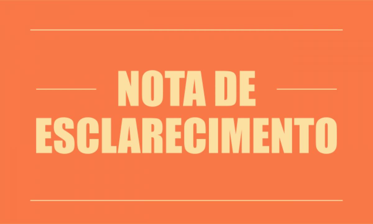 Nota de esclarecimento acerca da renúncia do vereador Renan dos Santos Pereira