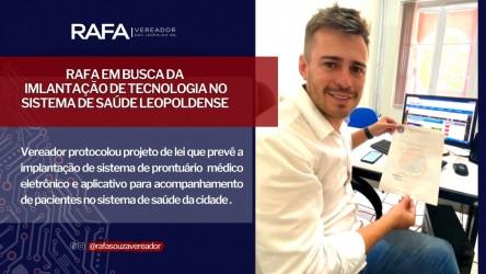 Vereador Rafa propõe a criação  do Prontuário Eletrônico de Saúde⠀