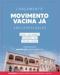 Câmara convida para reunião de lançamento do Movimento Vacina Já
