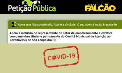 Petição pública em apoio ao setor de estética e embelezamento é criada pelo vereador Falcão